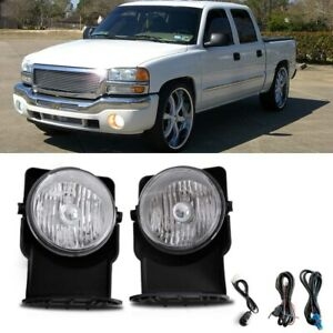 For 2007 Gmc Sierra 1500 Hd Classic Sle Slt Crew Cab Bumper Fog Lamps Replacment