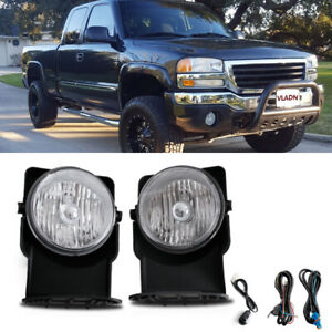 For 2003 Gmc Sierra 1500 Hd Sle Slt Crew Cab Bumper Fog Lamps Direct Replacment