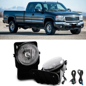 For 2004 Gmc Sierra 1500 Base Sle Slt Wt Bumper Fog Lamps Kit Direct Replacment