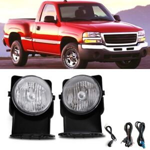 For 2005 Gmc Sierra 2500 Hd Base Sle Slt Wt Bumper Fog Lamps Direct Replacment