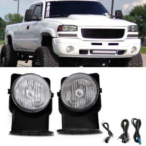 For 03 06 Gmc Sierra 1500 2500 3500 Hd 2007 Classic Models Fog Lamp Lh Rh Kit