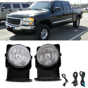 For 2005 2006 Gmc Sierra 1500 Hybrid Bumper Fog Lamps Kit Direct Replacment