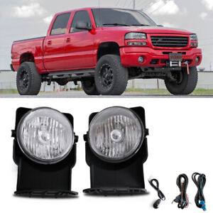 For 2003 Gmc Sierra 1500 Base Sl Sle Slt Wt Bumper Fog Lamps Direct Replacment