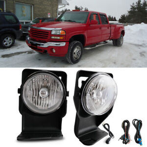 For 2006 Gmc Sierra 2500 Hd Sl Sle Slt Wt Bumper Fog Lamps Kit Direct Replacment