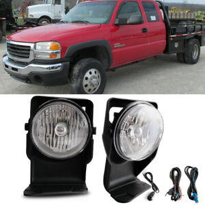 For 2003 Gmc Sierra Super Duty 3500 Base Sle Slt Wt Bumper Mounted Fog Lamps Kit