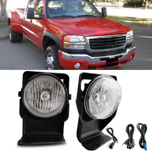 For 2006 Gmc Sierra 1500 Sl Sle Slt Wt Bumper Fog Lamps Kit Direct Replacment