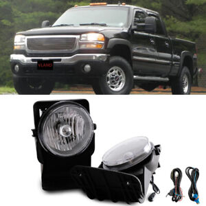 For 2004 Gmc Sierra 2500 Hd Base Sle Slt Wt Bumper Fog Lamps Direct Replacment