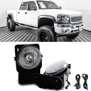 For 2003 Gmc Sierra 2500 Hd Base Sle Slt Wt Bumper Fog Lamps Direct Replacment