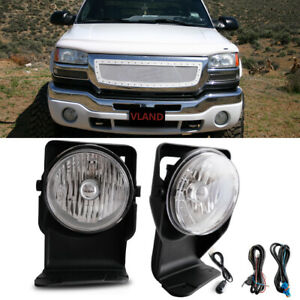 For 2006 Gmc Sierra 3500 Super Duty Sl Sle Slt Wt Clear Bumper Fog Lamps Kit