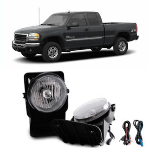 For 2004 Gmc Sierra 3500 Super Duty Base Sle Slt Wt Clear Bumper Fog Lamps Kit