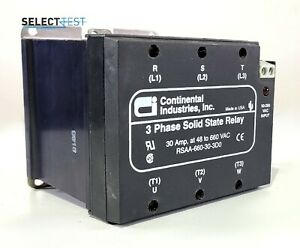 Continental Industries Rsaa 660 30 3d0 3 Phase Solid State Relay ssr g
