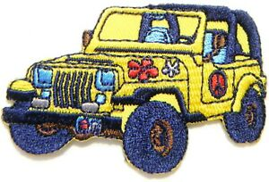 Jeep 4wd Car Model Diecast Patch Sew Iron On Embroidered T Shirt Hat Cap Jacket