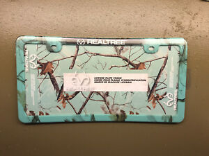 Realtree License Plate Frame Mint Camouflage Thinner Design New