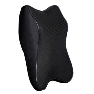 Car Seat Headrest Pad Head Neck Rest Support Cushion 3d Memory Foam Pillow Black