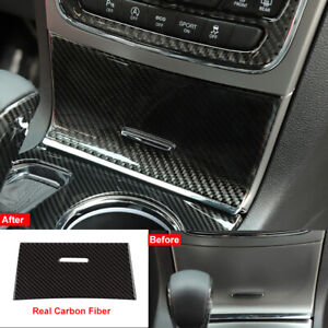 Carbon Fiber Console Center Storage Box Cover Trim For Jeep Grand Cherokee 2014