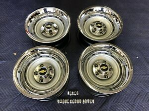 1971 87 Chevy C10 Truck 5 On 5 15x8 Gm Original Truck Rallys Gm Caps New Rings