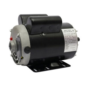 5hp 3450 Rpm Air Compressor Electric Motor 208 230 Volts Copper Wire new