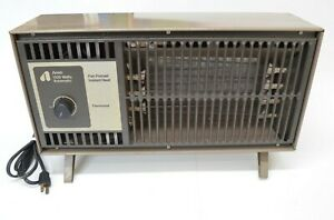 Vintage Space Heater Arvin 1320 Watts Automatic Fan Forced Instant Taupe Works