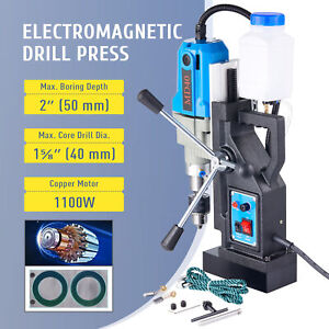 1100w Compac Electric Magnetic Drill Press Bores Up To 2 Deep 1 6 across Blue