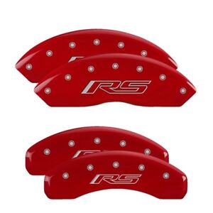 Mgp Caliper Covers Engraved Front Rear For 16 19 Camaro 3 6l Red