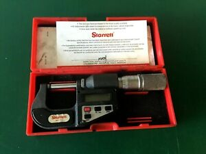 Starrett No 734xfl 0 1 Outside Electronic Digital Micrometer With Case