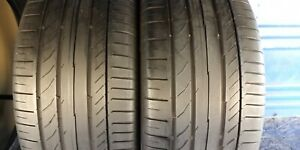 2 Continental Sport Contact 5 Ssr Rft 255 40 18 Bmw 6 32nd Tread Left 95 Y