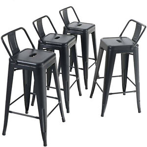 24 Inch Bar Stools Set Of 4 Counter Height Dining Chairs For Kitchen Bistro Pub