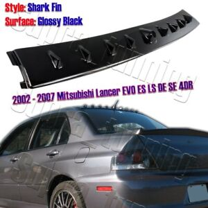 Glossy Black For 2002 2007 Mitsubishi Lancer Evo Shark Rear Roof Spoiler Wing