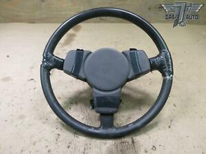 83 84 Porsche 944 Leather Steering Wheel W Horn Cover Brown Oem
