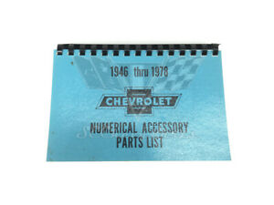 1946 1978 Chevy Numerical Accessory Parts List