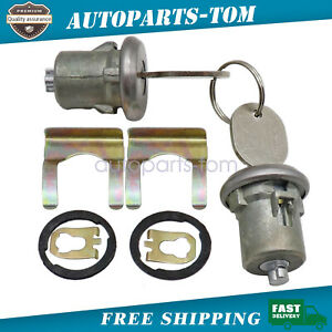 Pair Silver Door Lock Cylinder With Keys For Listed Chevrolet Gmc Truck Amp Suv