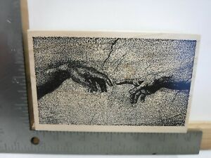 TOYBOX RUBBER STAMPS MICHELANGO HANDS ART WOOD RUBBER STAMP EUC A25599 $14.99