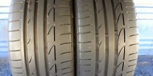 2 Bridgestone Potenza S001 Rft 225 40 19 Bmw With 7 7 5 32nd Tread Left 89 Y