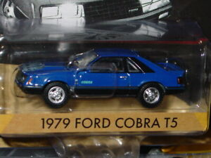Greenlight 1979 Ford Cobra T5 Mustang Foxbody Collectible Muscle Car blue Mip