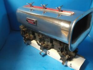 Vintage Hot Rod Drag Car 3 Rochester 2bbl Carbs Good For Tri Power 3x2 S A