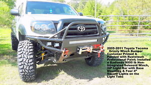 2005 2011 Toyota Tacoma Winch Hybrid Bumper Welded Usa Not China Bolt Together