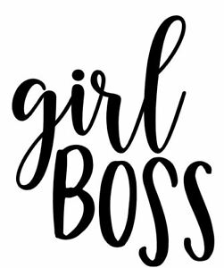 Girl Boss Car Window Water Bottle Vinyl Decal Cute Phone Planner Wall Laptop