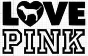 Love Pink Car Window Bottle Vinyl Decal Cute Phone Planner Wall Laptop Vs Girls