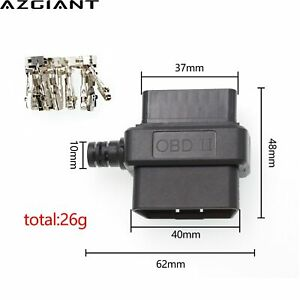 Obd2 16pin Connector Obd Male Female Shell Terminal For Car Code Reader