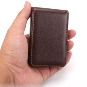 Us Leather Business Cards Holder Case Organizer Name Id Credit Card Book Keeper