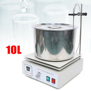 10l Magnetic Stirrer Magnetic Mixer Stir Hot Plate Stirring Water Oil Bath Pot
