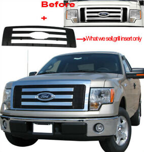 Viogi Fits ford F150 Pickup Truck Billet Grille Upper Bolt on Grill Fx4 Stx Lx