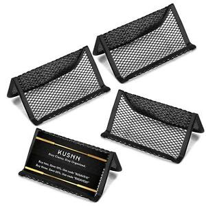 4 Pack Mesh Metal Business Card Holder Stand And Cell Phone Holder