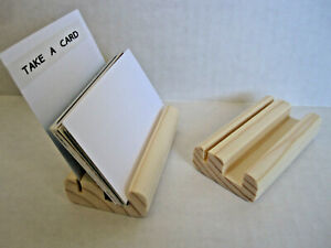 Wooden Business Card Holder Stand Display Set Of Two