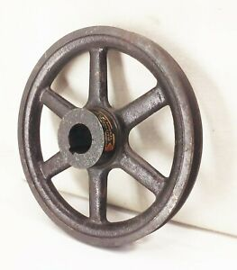 Vtg Antique Cast Iron V Belt Groove Pulley 7 5 16 Farm Industrial Machine