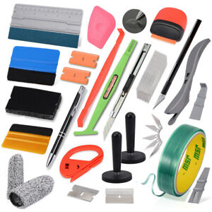 Car Wrap Application Felt Squeegee Kit Window Tint Film Installation Tools Usa