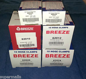 Breeze Hose Clamps Stainless Steel Band 04 06 10 12 20 24 Usa Made