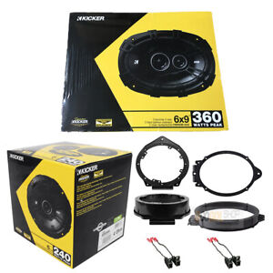 Kicker Ds Series 6 5 6x9 Front Rear Replacement Speaker For 2010 15 Camaro