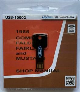 1965 Ford Comet Falcon Fairlane Mustang Shop Service Manual usb