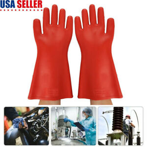 Electricians Protective Gloves High voltage Insulated 12kv Anti electric Glove